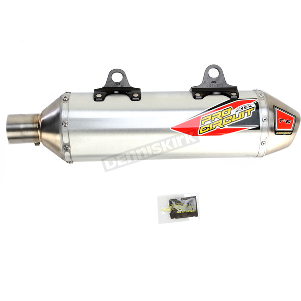 Pro Circuit Stainless T-6 Slip-On Silencer (Aluminum/Stainless) - 0151445A