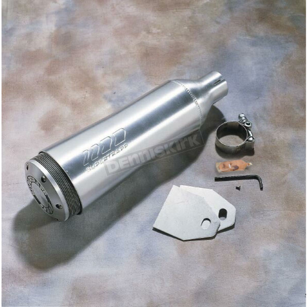 Supertrapp 1 3/4 in. Inlet Universal Aluminum External Disc Muffler - 412-17500