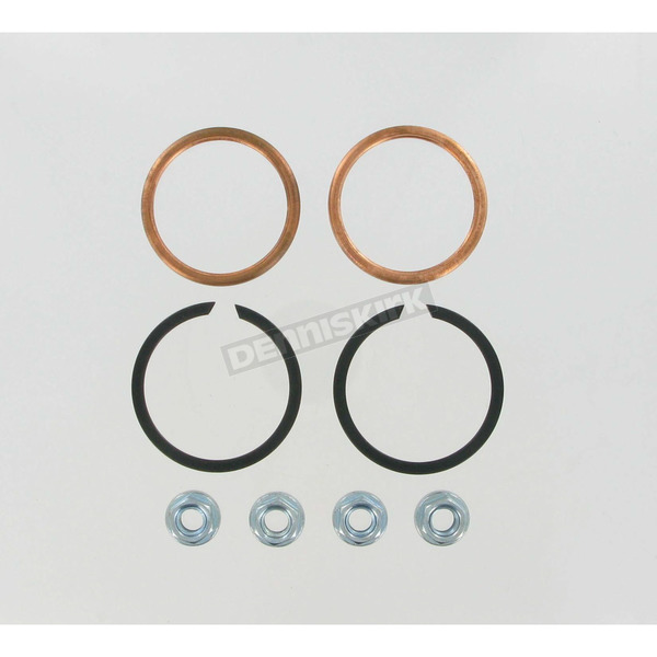 Genuine James Copper Crush Ring Exhaust Gaskets and Heavy Duty Hex Nuts - 65324-83-KCR2