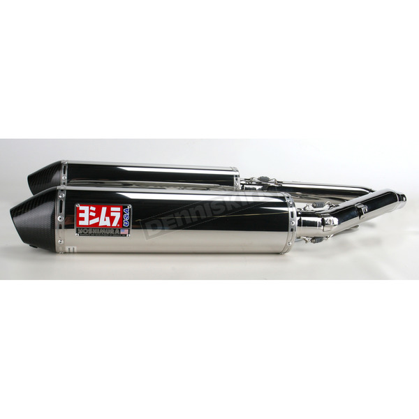 Yoshimura RS-3 Dual Oval Stainless Slip-On w/Carbon Cone End Cap - 11212552