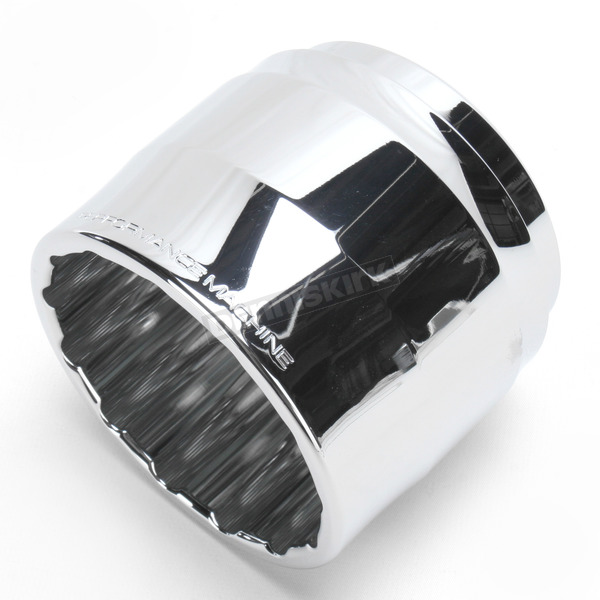Performance Machine Chrome Clean Cut Elite Exhaust End Cap For Vance & Hines 4 in. Monster Rounds Mufflers - 02042021CLECH