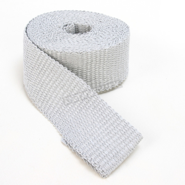 Cycle Performance Silver 2 in. x 25 ft. Exhaust Pipe Wrap w/Tie Wraps - CPP/9056