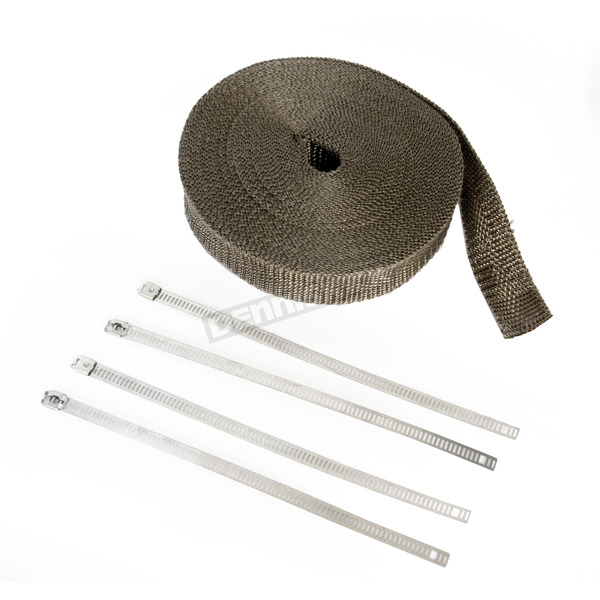 Cycle Performance Metallic 1 in. x 50 ft. Exhaust Pipe Wrap w/4 Silver Ladder Ties - CPP/9052SL