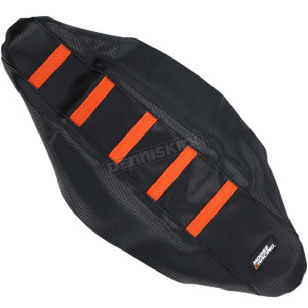 Moose Black/Orange Ribbed Seat Cover - 0821-2110