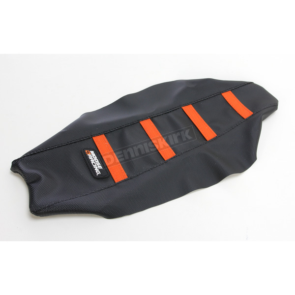 Moose Black/Orange Ribbed Seat Cover - 0821-2369