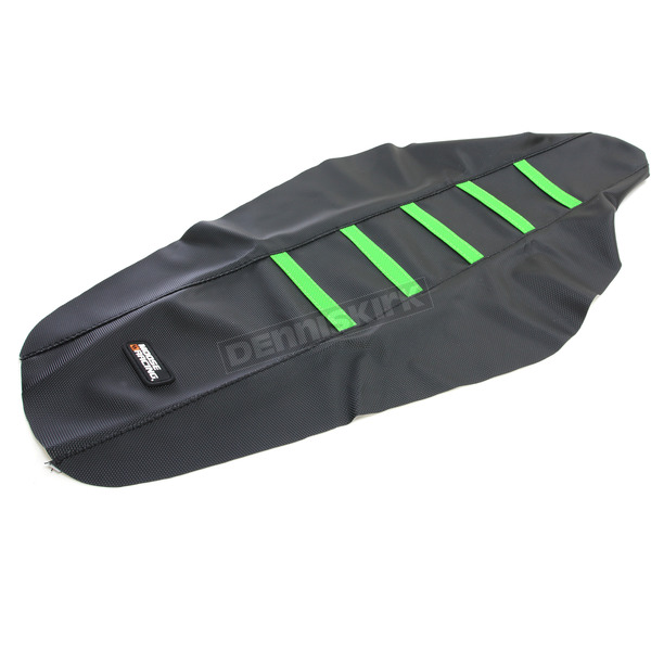 Moose Black/Green Ribbed Seat Cover  - 0821-2371