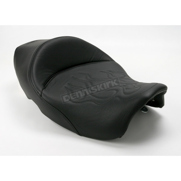 Saddlemen 14 1/2 in. Wide Tattoo Leather Solo Seat - 897-06-0112