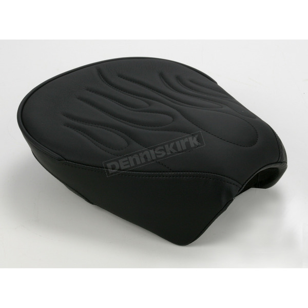 Drag Specialties 12 in. Wide Pillion Pad w/Flame Stitching - 0801-0468