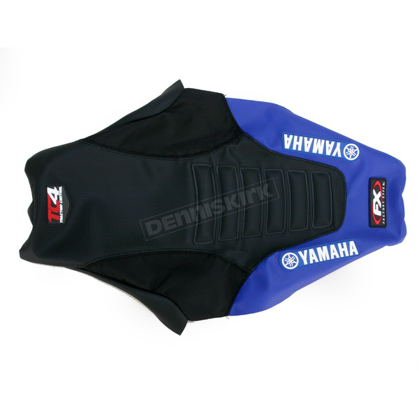 Factory Effex Black/Blue TC4 Gripper Seat Cover with Bump - 12-28232