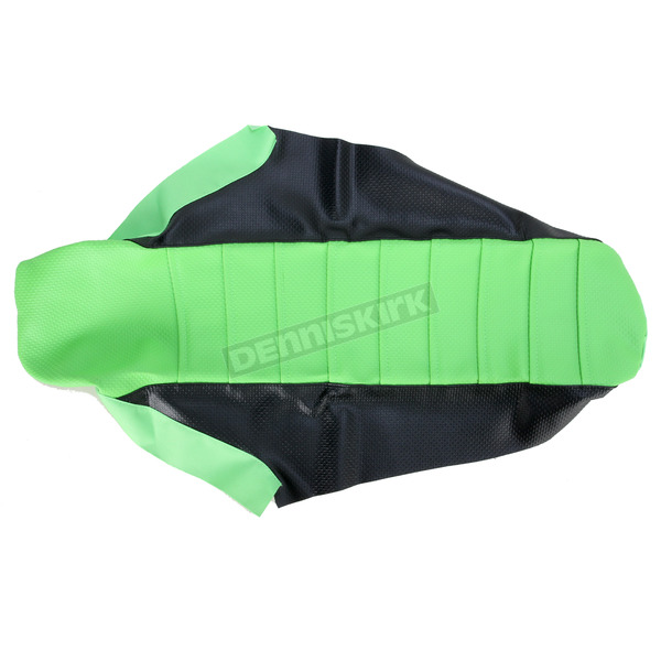 FLU Designs Black/Green Team Issue 3-Panel Grip Seat Cover  - 25310