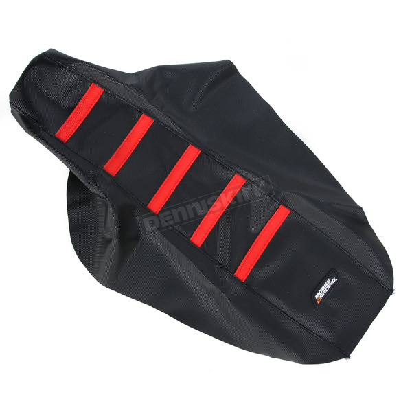 Moose Black/Red Ribbed Seat Cover  - 0821-1785