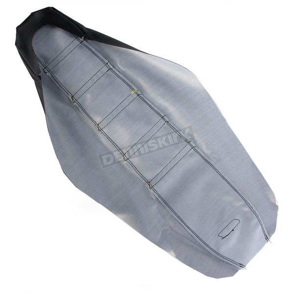 Moose Black/Yellow Ribbed Seat Cover  - 0821-1805