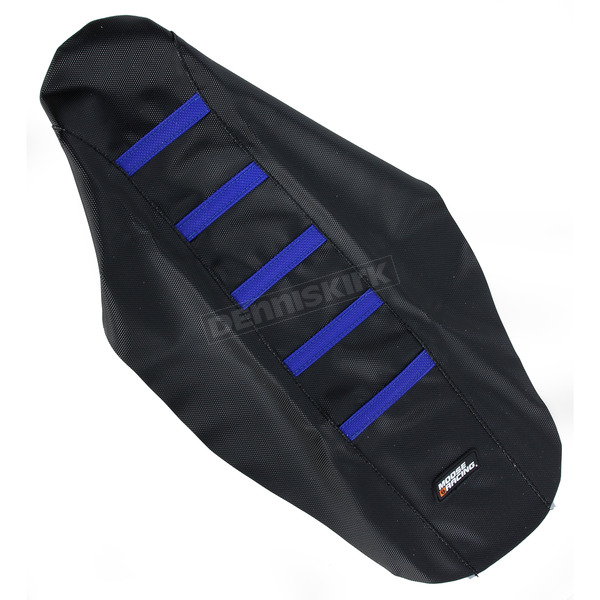 Moose Black/Blue Ribbed Seat Cover  - 0821-1813
