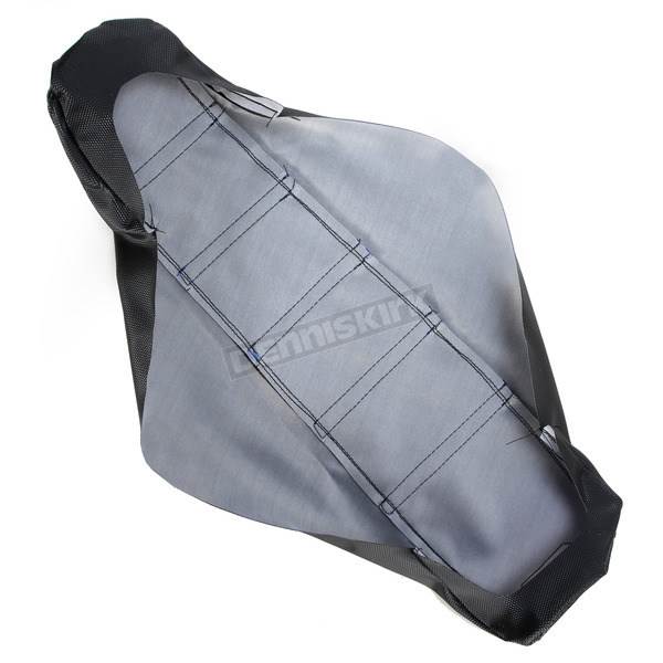 Moose Black/Blue Ribbed Seat Cover  - 0821-1815