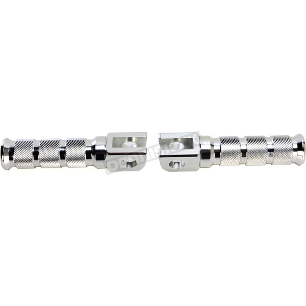 Emgo Silver Anodized Aluminum Front Footpegs - 50-11221