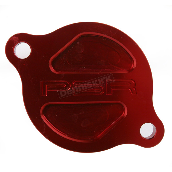 Powerstands Racing Red Magnetic Oil Filter Cover - 03-01980-24