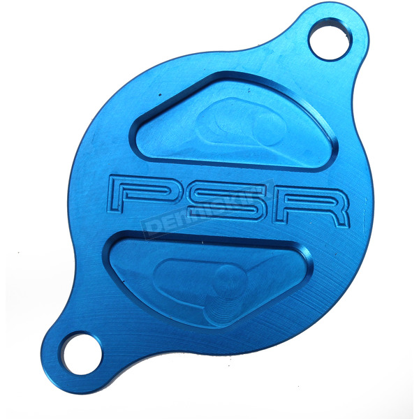 Powerstands Racing Blue Magnetic Oil Filter Cover - 05-01980-25