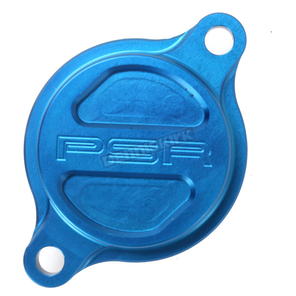Powerstands Racing Blue Magnetic Oil Filter Cover - 07-01981-25