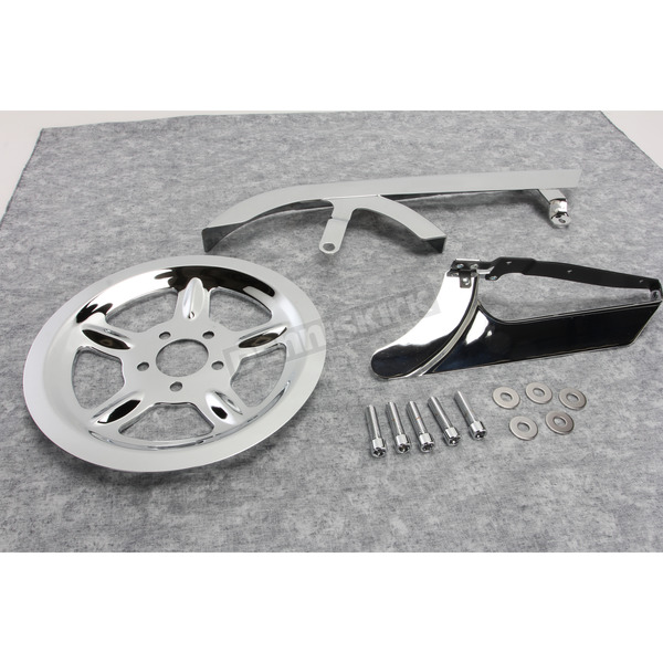V-Twin Manufacturing Chrome Belt Guard and Pulley Cover Kit - 27-0619