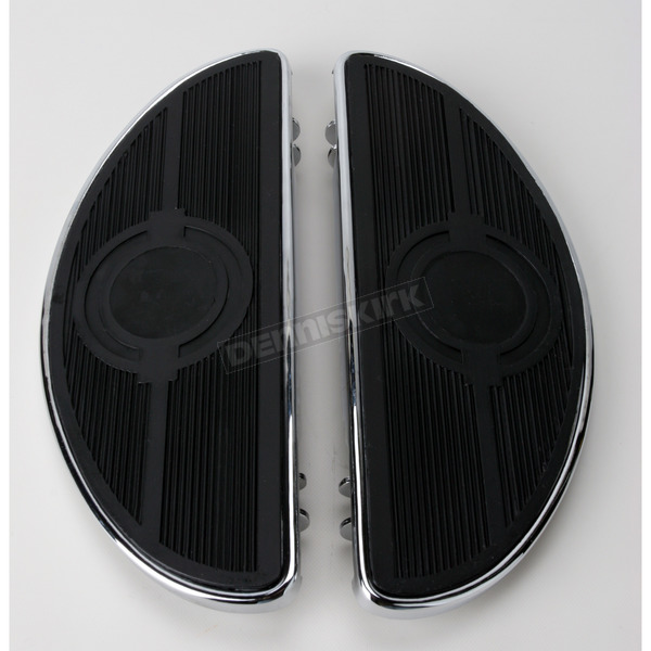 Chrome Half-Moon Floorboards w/o Vibration Inserts - 1621-0161
