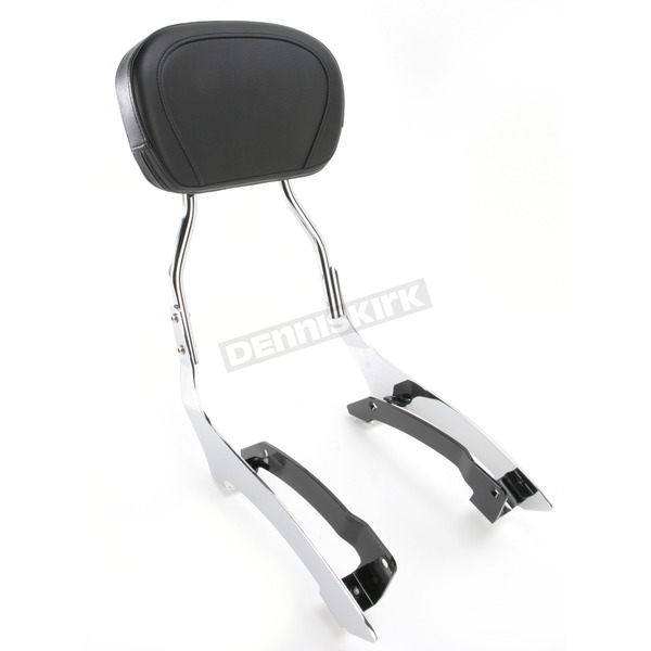 Cobra Tall 17 in. Round Sissy Bar w/Pad - 02-7634