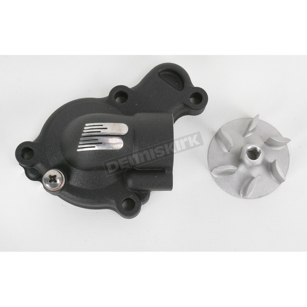 Boyesen Black Supercooler Water Pump Cover and Impeller Kit - WPK-38AB