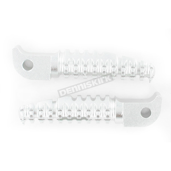 Powerstands Racing Silver SBK Pegs for OEM Mounts - 07-01201-21