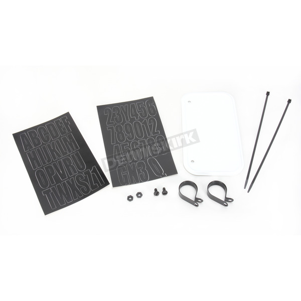 Hardline White ATV License Kit - 2345WA