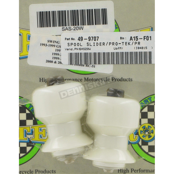 Pro-Tek Swingarm Spool Sliders - SAS-20WHT