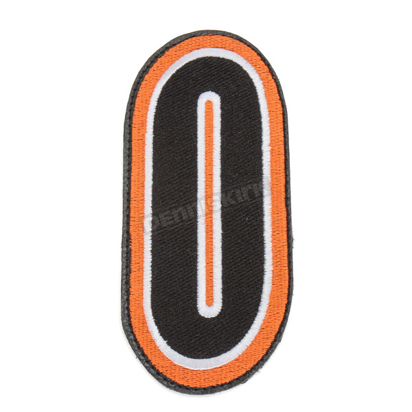 American Kargo Orange/Black 5 in. Number 0 Patch For Gear Bags - 3550-0227