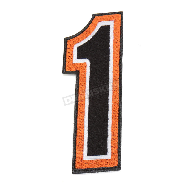 American Kargo Orange/Black 5 in. Number 1 Patch For Gear Bags - 3550-0228
