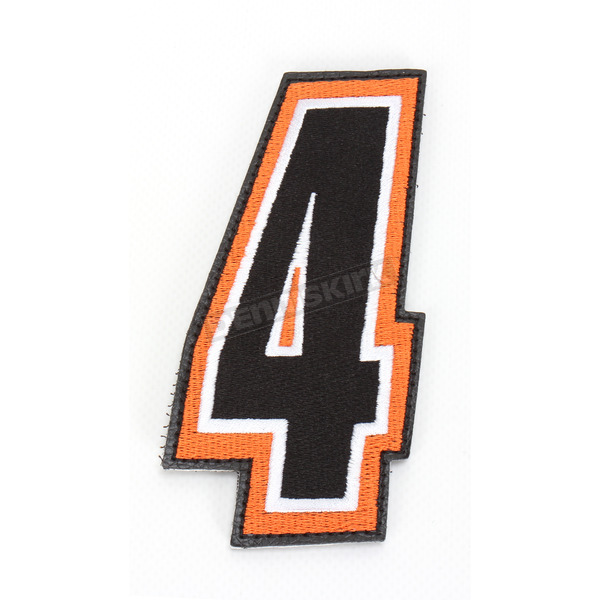 American Kargo Orange/Black 5 in. Number 4 Patch For Gear Bags - 3550-0231