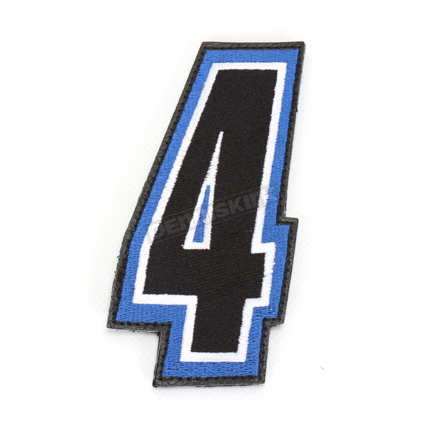 American Kargo Blue/Black 5 in. Number 4 Patch For Gear Bags - 3550-0241