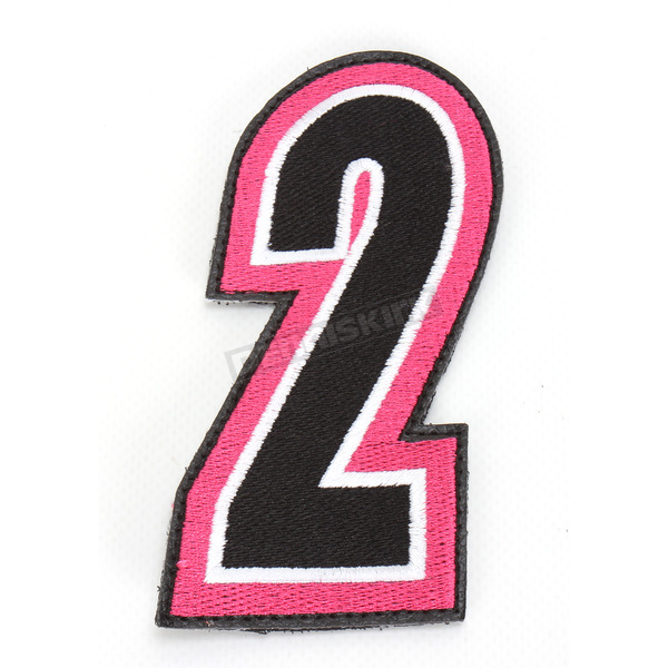 American Kargo Pink/Black 5 in. Number 2 Patch For Gear Bags - 3550-0249