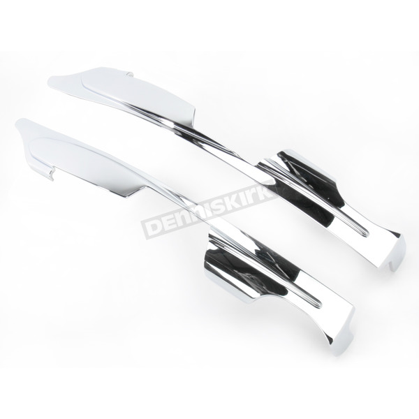 Kuryakyn Chrome Upper Saddlebag Filler Panels w/2-Point Detachable Brackets - 7221