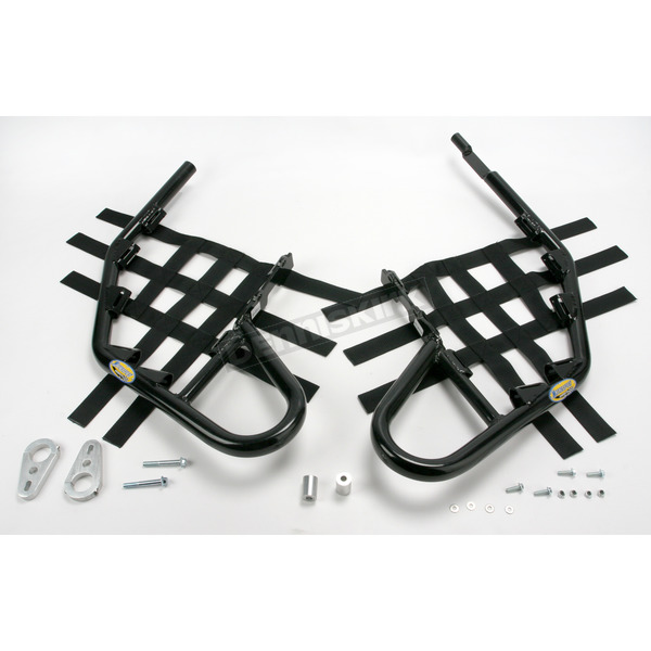 Motorsport Products Black Alloy Nerf Bars w/Black Webbing - 81-2112