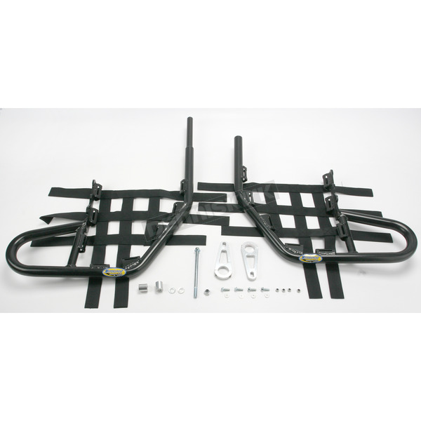 Motorsport Products Black Alloy Nerf Bars w/Black Webbing - 81-3212