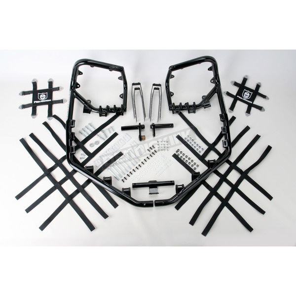 Pro Armor Black Nerf Bars w/Net Heel Guards - Y063078BL