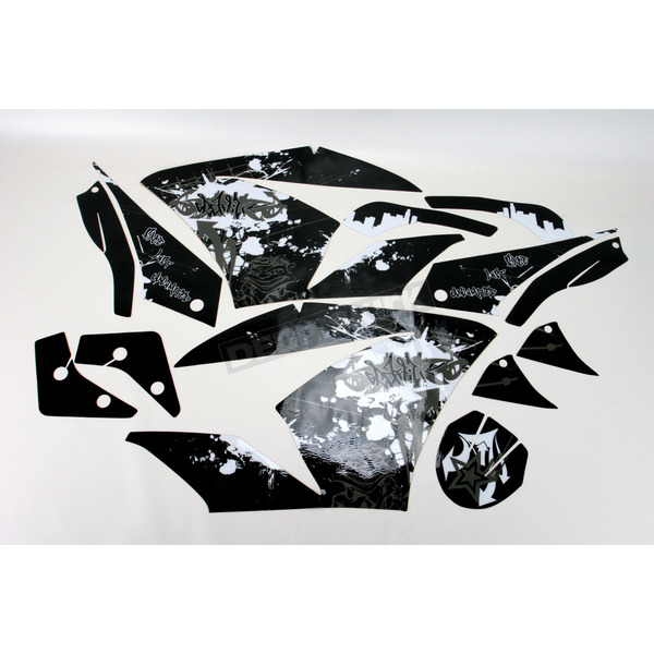 Face Lift Unlimited Sportbike Black/White Graphic Kit - 60103