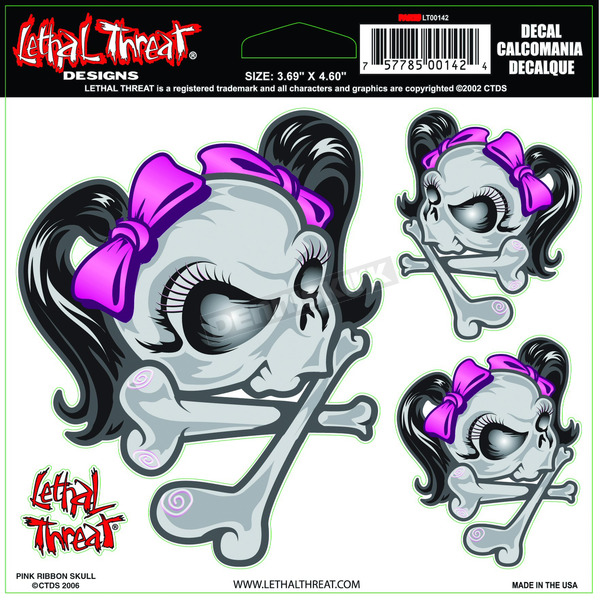 Lethal Threat Bow Skull Decal - 1600-0128