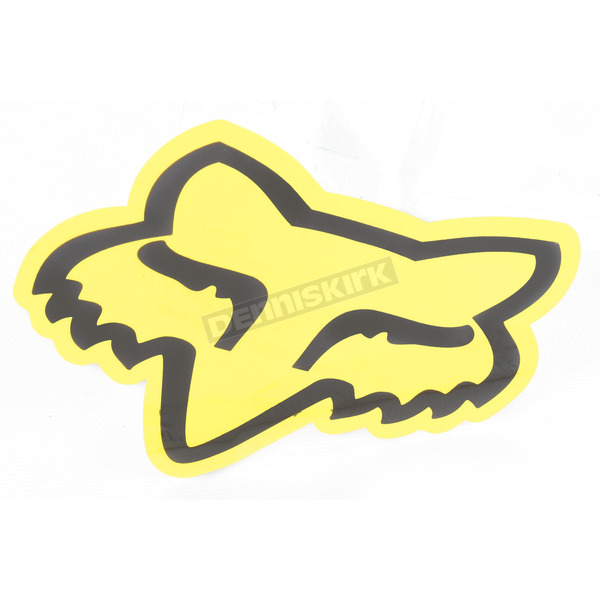 Fox Yellow 4 in. FoxHead Sticker - 14422-005-NS