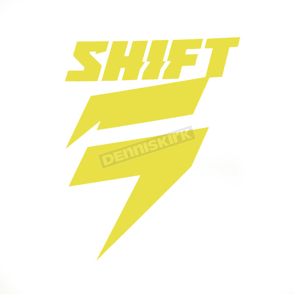 Shift Yellow 4 in. Corp Die Cut Sticker - 14522-005-NS