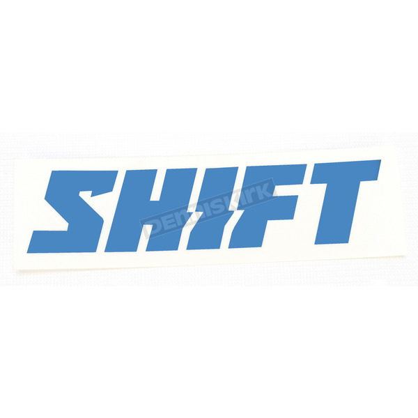 Shift Blue 6 in. Word Die Cut Sticker - 14524-002-NS
