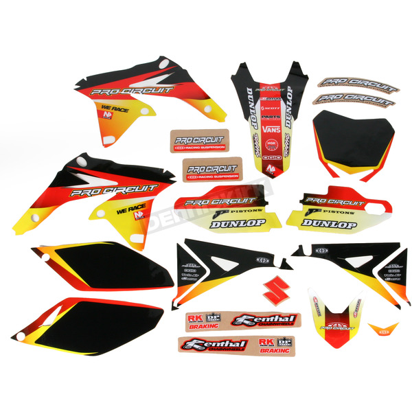 Pro Circuit Complete Graphic Kit w/Seat Cover - DS12250