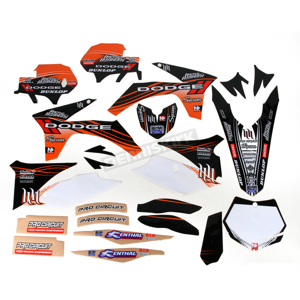 N-Style White Hart & Huntington Race Team Graphics Kit w/Seat Cover - N405651