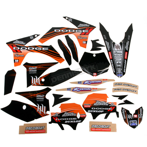 N-Style Black Hart & Huntington Race Team Graphics Kit w/Seat Cover - N40-5652