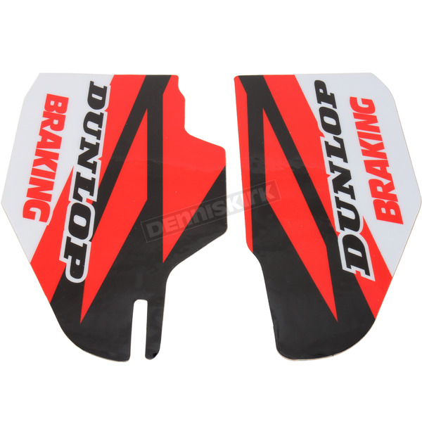 N-Style Red/Black/White Lower Fork Protectors - N10-139