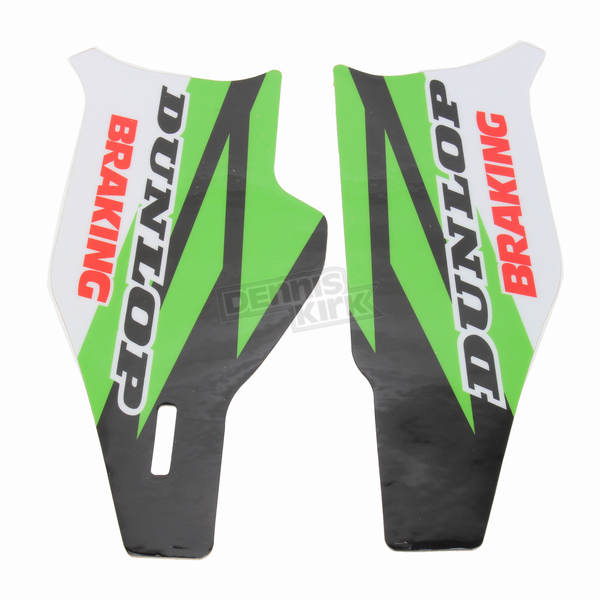 N-Style Green/Black/White/Red Lower Fork Protectors - N10-146