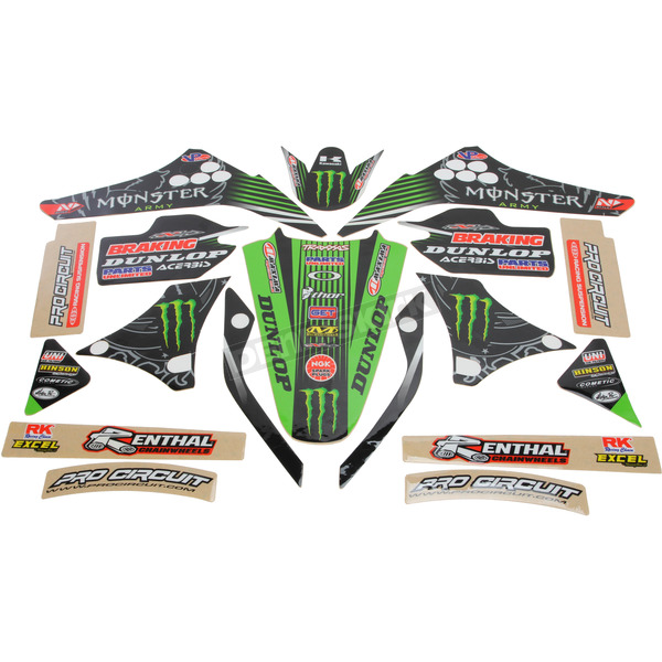 N-Style 2015 Team Green Race Team Graphics Kit - N40-3751