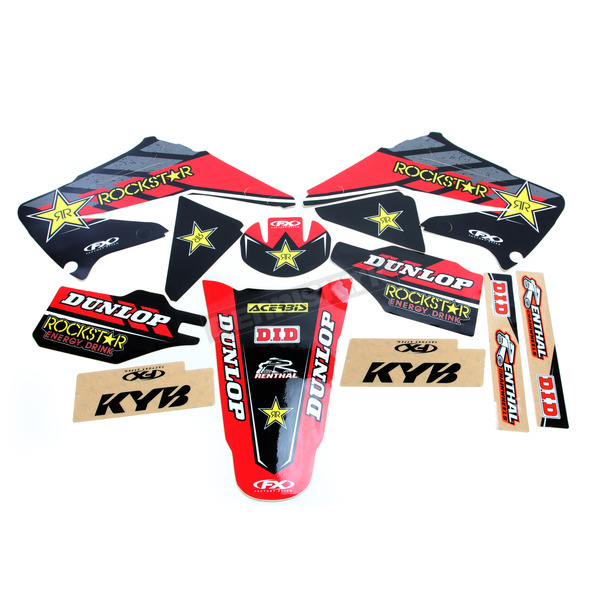 Factory Effex Red Honda Rockstar Energy Shroud and Complete Graphics Kit - 19-07318